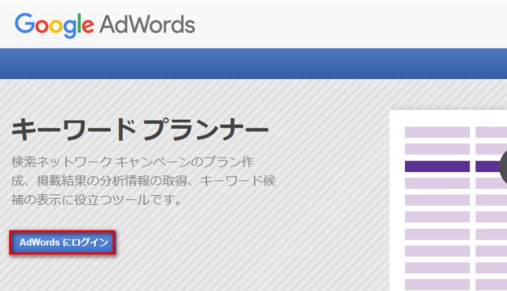GoogleAdWordsにログイン